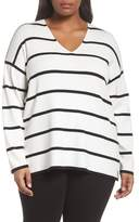 Lafayette 148 New York Stripe Sweater