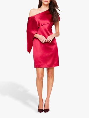 Damsel in a Dress Asymmetric Frill Lissy Dress, Deep Rose