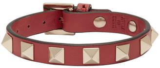 Valentino Red Garavani Leather Rockstud Bracelet