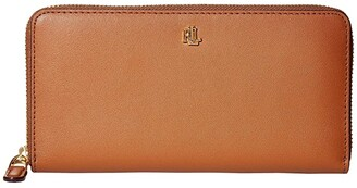 Lauren Ralph Lauren Zip Continental Wallet (Lauren Tan) Wallet Handbags