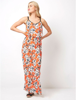 George Floral Double Layer Maxi Dress