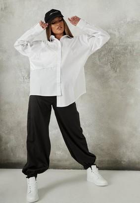 Missguided White Satin Bralette Overlay Shirt