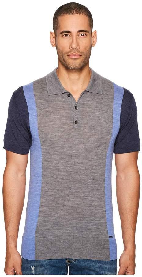 DSQUARED2 Color Block Polo Sweater Men's Sweater
