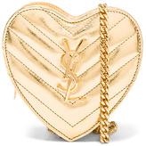 Saint Laurent Love Quilted Metallic Mini Crossbody Bag