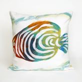 Liora Manné Rainbow Fish 20-Inch x 20-Inch Indoor/Outdoor Throw Pillow in Pearl