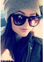 Wildfox Couture Sun Classic Fox Sunglasses in Black as Seen On Kylie Jenner and Vanessa Hudgens