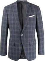 BOSS checked pattern blazer