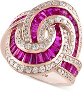 Effy Rosa by Ruby (3-1/2 ct. t.w.) and Diamond (3/4 ct. t.w.) Statement Ring in 14k Rose Gold