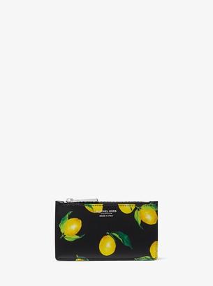 Michael Kors Small Lemon Leather Card Case