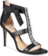 Jewel Badgley Mischka Henderson Strappy Bow Evening Sandals
