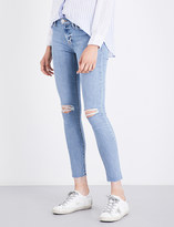 Hudson Ladies Hooligan Distressed Concealed Zip Nico Super-Skinny Mid-Rise Jeans