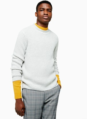 TopmanTopman Light Grey Chunky Knitted Jumper