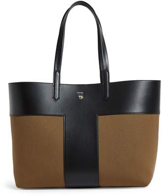 Tom Ford Leather T Tote Bag