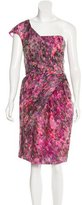 Lela Rose Silk-Blend Abstract Print Dress