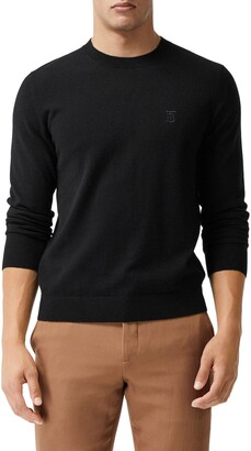 Burberry Bancroft TB Monogram Embroidered Cashmere Sweater