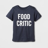 Cat & Jack Toddler Short Sleeve Food Critic Graphic T-Shirt - Cat & Jack Gray
