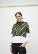 Marni stone green mid sleeve blouse