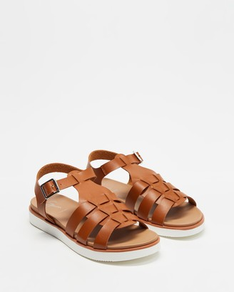 Spurr Women's Brown Flat Sandals - Jelly Comfort Sandals - Size 5 at The Iconic