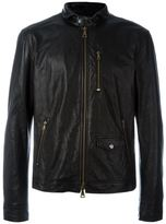 John Varvatos zipped leather jacket