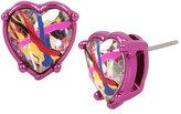 Betsey Johnson Harlem Shuffle Heart Stud Earrings