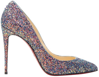 Christian Louboutin Pigalle Blue Glitter Heels