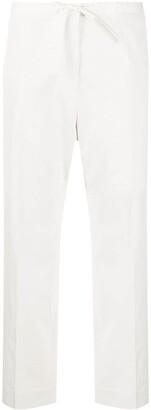 Jil Sander Cropped Drawstring Trousers