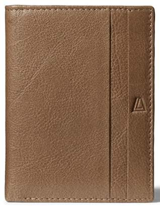 Leather Architect Men's 100% Leather RFID Blocking Wallet with Over Flap and 9 Credit Card Slots