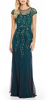 Adrianna Papell Floral Beaded Gown