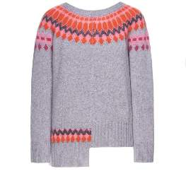 Beatrice. B Nordic Grey & Pink Knitted Jumper - medium