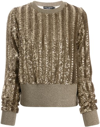 Dolce & Gabbana Sequinned Knitted Jumper