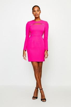Karen Millen Cutout Long Sleeve Mini Dress