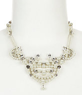 Givenchy Faux-Pearl & Crystal Collar Necklace