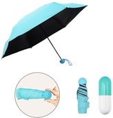 Buycitky 0.5lb / 7inch Ultra Light Mini Anti-UV Umbrella with Capule Cae, Compact Folding Umbrella for Women Girl Child, Your Intimate Helpmate in Thieaon!