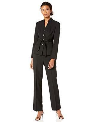 Le Suit Women's Glazed Melange Pant Suit