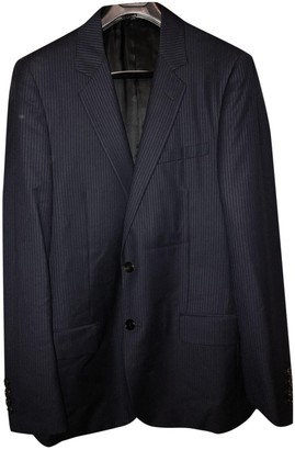 Christian Dior Navy Wool Suits
