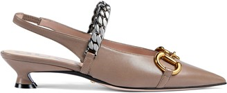 Gucci Women's leather pump with Horsebit