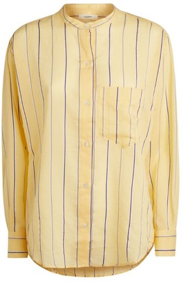 Etoile Isabel Marant Stripe Collarless Shirt