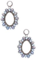 Deepa Gurnani Bead & Crystal Statement Earrings