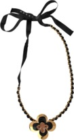 Marni Flower resin and brass necklace