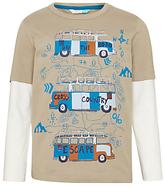 John Lewis Children's Camper Van T-Shirt, Brown