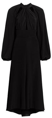 Silvia Tcherassi Maureen High-Low Midi Dress