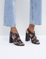 Asos Design DESIGN Hamilton Multi Strap Block Heeled Sandals