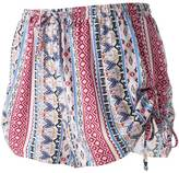 Pink Republic Juniors' Pink Republic Print Ruched Shorts