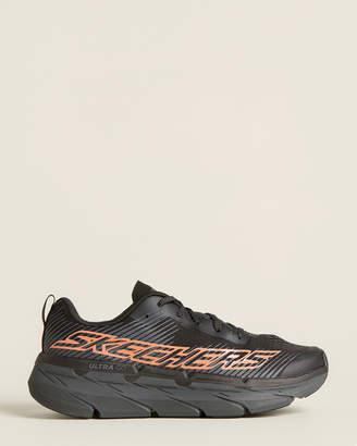 Skechers Black & Orange Max Cushioning Premier Running Sneakers