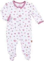 Magnificent Baby Footie - Hearts-3 Months