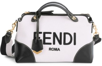 Fendi Medium By The Way Logo Canvas Satchel