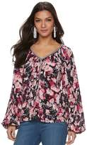 JLO by Jennifer Lopez Women's Embellished Peasant Top