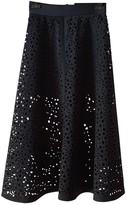 Donna Karan Blue Rubber Skirt for Women