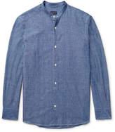Ermenegildo Zegna Slim-Fit Grandad-Collar Cotton-Chambray Shirt
