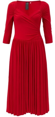 Norma Kamali Sweetheart-neck Jersey Midi Dress - Red